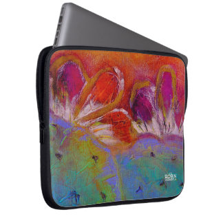 """Midnight Prickly Pear"" Neoprene Laptop Sleeve"