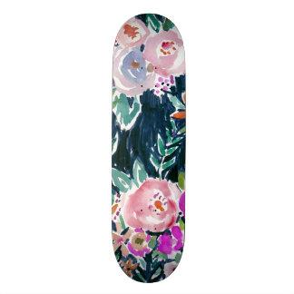 Midnight Profusion Dark Rose Floral 21.3 Cm Mini Skateboard Deck