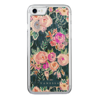 Midnight Profusion Dark Rose Floral Carved iPhone 8/7 Case