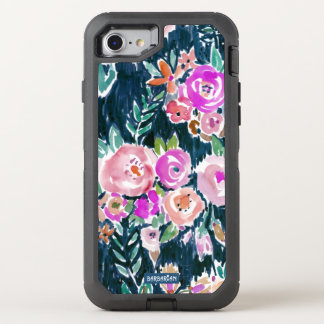 Midnight Profusion Dark Rose Floral OtterBox Defender iPhone 8/7 Case