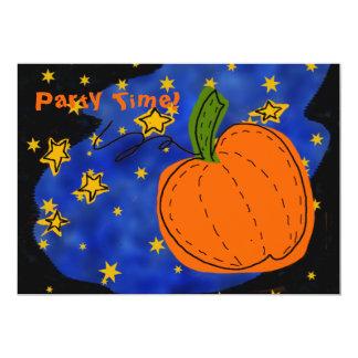 Midnight Pumpkin Party Invitations