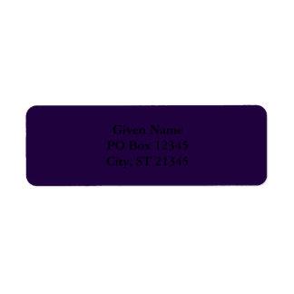 Midnight Purple Return Address Label