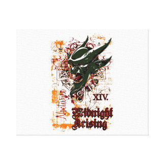 midnight rising olive affected design canvas print