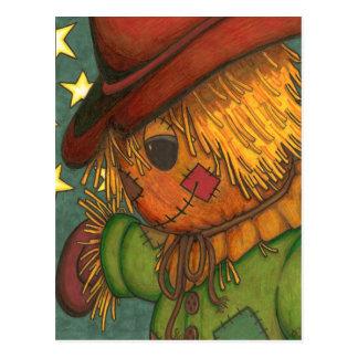 Midnight Scarecrow Postcard