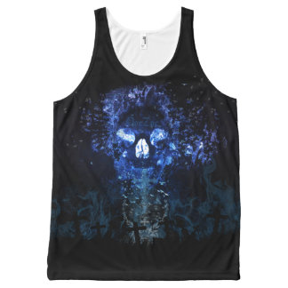 Midnight Skull All-Over Print Singlet
