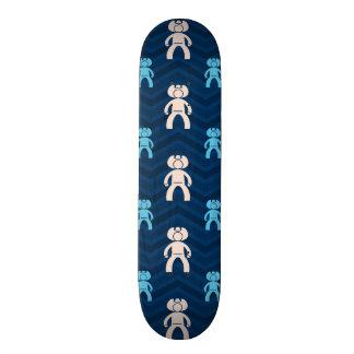 Midnight Sky Blue Tan Cowboy Chevron Custom Skate Board