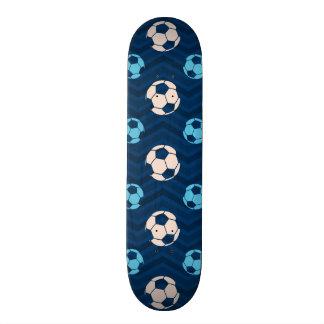 Midnight Sky Blue Tan Soccer Ball Chevron Custom Skateboard