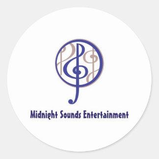 Midnight Sounds Classic Round Sticker