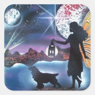 Midnight Stroll Square Sticker