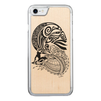 Midnight Surf Carved iPhone 7 Case