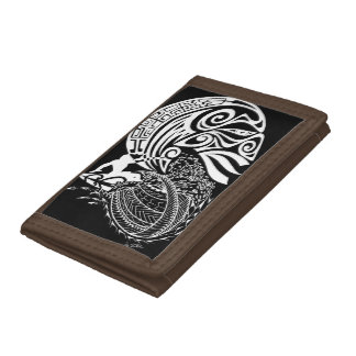 Midnight Surf Trifold Wallets