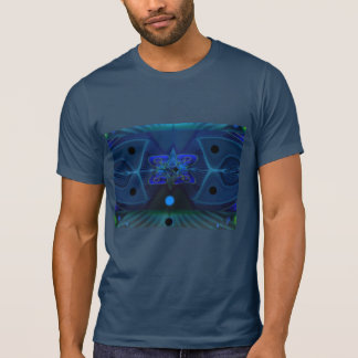 Midnight T-Shirt with Digital 'Spaceship Interior'