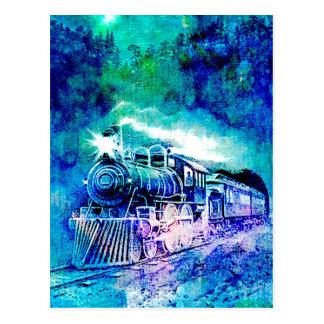MIDNIGHT TRAIN POSTCARD