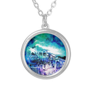 MIDNIGHT TRAIN SILVER PLATED NECKLACE