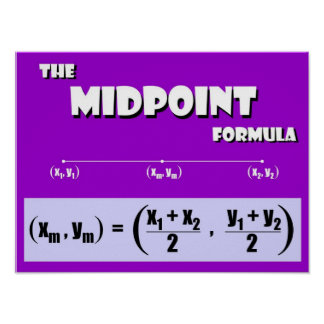 Midpoint Formula Posters