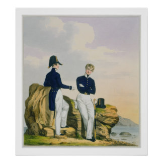 Midshipmen, plate 3 from 'Costume of the Royal Nav Poster
