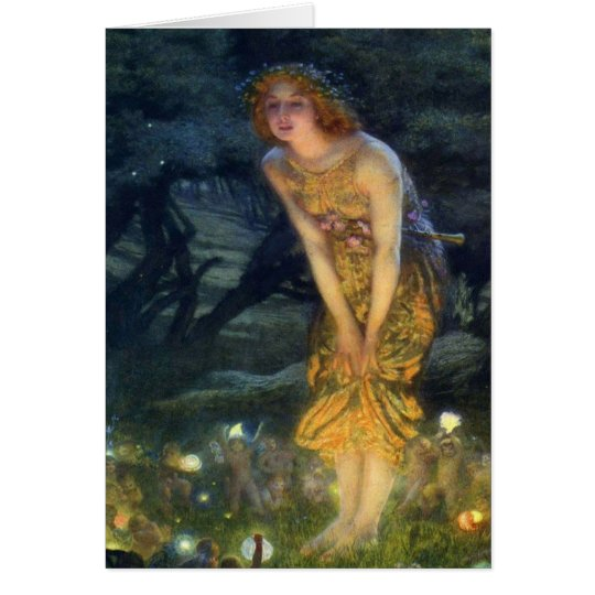 Midsummer Eve with a Fairy Ring 1908 Card