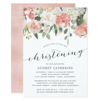 Midsummer Floral | Christening Invitation