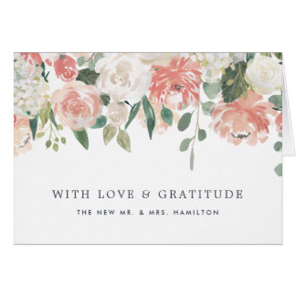 Midsummer Floral Personalized Thank You Card