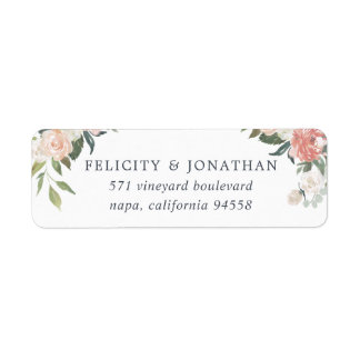 Midsummer Floral Return Address Return Address Label