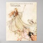 Midsummer Night's Dream Titania Arthur Rackham Poster