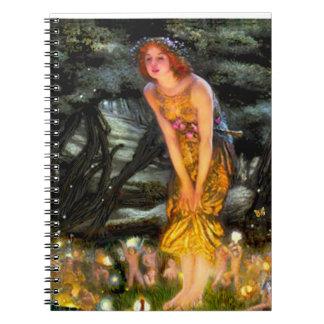 Midsummer's Eve - add a pet Spiral Notebook
