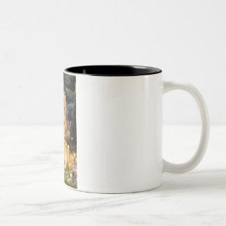 Midsummers Eve - Pembroke Welsh Corgi 7b Two-Tone Coffee Mug