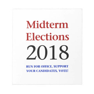 Midterm Elections 2018 Notepad