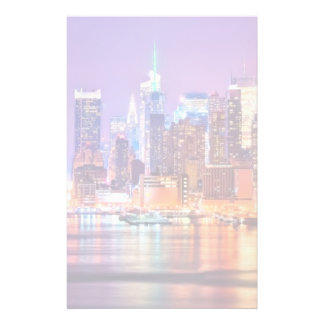 Midtown Manhattan at night with Empire Stae Customized Stationery