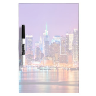 Midtown Manhattan at night with Empire Stae Dry-Erase Whiteboards