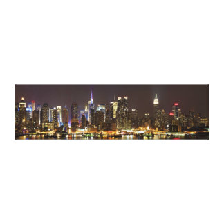 Midtown Manhattan seen from Weehawken New Jersey Stretched Canvas Prints
