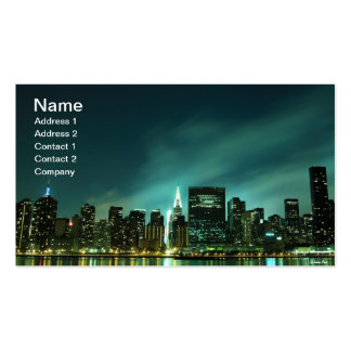 Midtown Manhattan skyline at Night Lights, NYC Business Card