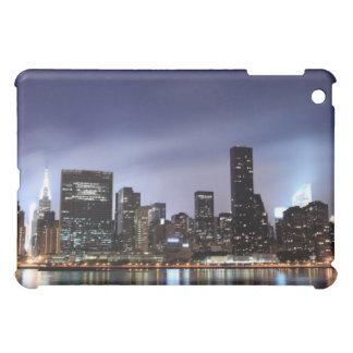 Midtown Manhattan skyline at Night Lights NYC iPad Mini Cover