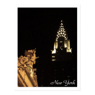 Midtown Sights: Grand Central & the Chrysler Postcard