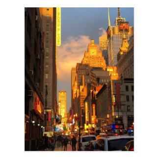 Midtown Sunset New York City NYC Photo Postcard