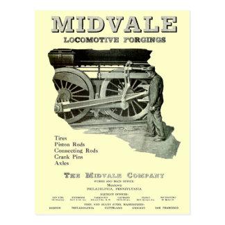 Midvale Steam Locomotive Forgings 1924  Postcards