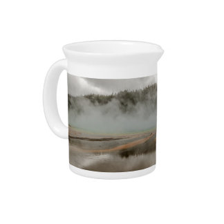 Midway Geyser Basin in Yellowstone National Park Pitcher