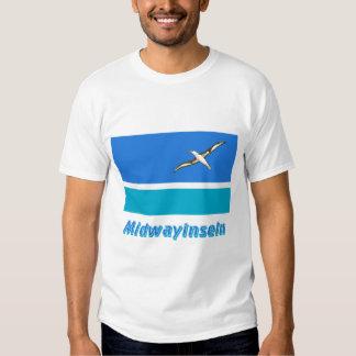 Midwayinseln Flagge mit Namen Tee Shirt