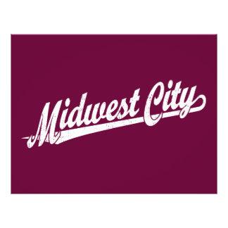 Midwest City script logo in white distressed 21.5 Cm X 28 Cm Flyer