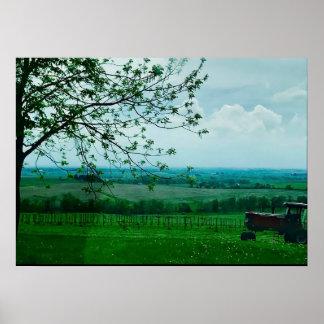 Midwest Farm Landscape in Wisconsin Poster
