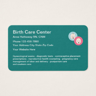 Midwife Birth Care Design Business Card