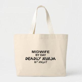 Midwife Deadly Ninja by Night Jumbo Tote Bag