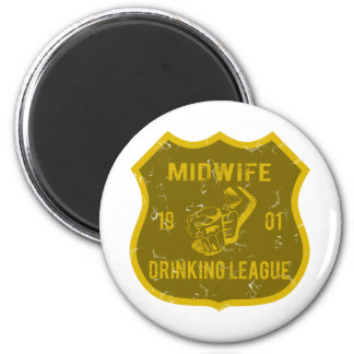 Midwife Drinking League Magnet