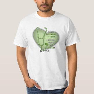 Midwife Nurse Green Heart value t-shirt