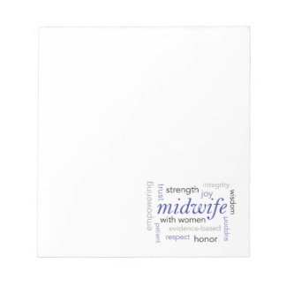 midwife word cloud notepad