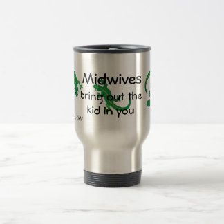 Midwives and Green Lizard Twist Travel Mug