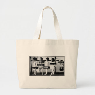 midwives are different large tote bag