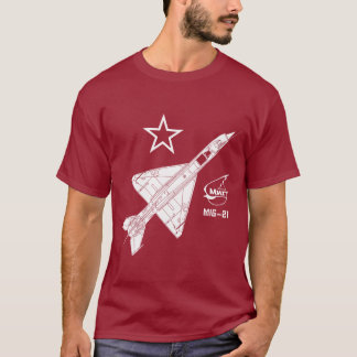Mig-21 Fishbed Russian Jet Fighter T-Shirt