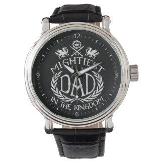 Mightiest Dad in the Kingdom Wrist Watch