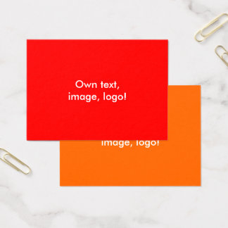 Mighty Business Cards Red-Orange